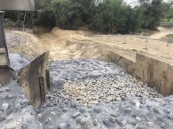 台南龜洞雞場跌水池工程