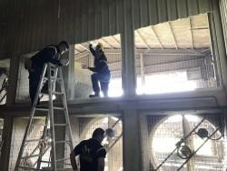 雞舍風扇開孔工程(台南後壁)